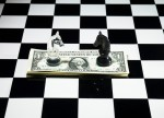 cash on a chess board